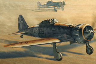 Macchi C.200 - World War II fighter aircraft sfondi gratuiti per cellulari Android, iPhone, iPad e desktop