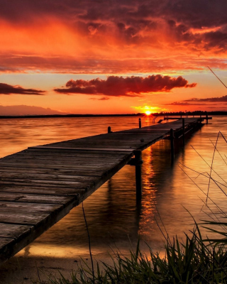 Stunning Sunset in Sweden Wallpaper for Nokia Asha 310