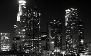 Los Angeles Black And White sfondi gratuiti per 1200x1024