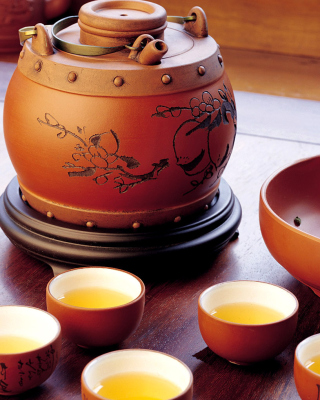 Japanese Tea Wallpaper for Nokia Asha 306