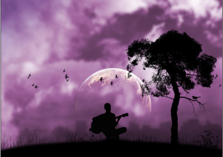 Purple Serenade Background for Android, iPhone and iPad