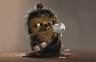 Baby Chewbacca Background for Android, iPhone and iPad