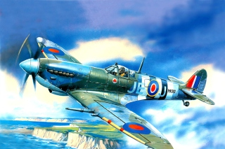 British Supermarine Spitfire Mk IX sfondi gratuiti per cellulari Android, iPhone, iPad e desktop
