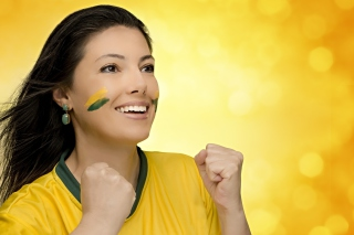 Free Brazil FIFA Football Cheerleader Picture for Android, iPhone and iPad
