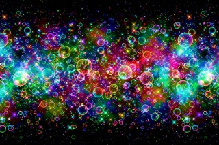 Rainbow Bubbles Picture for Motorola DROID 3