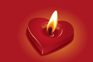 Free Heart Shaped Candle Picture for Nokia Asha 201