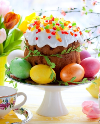 Easter Cake And Eggs sfondi gratuiti per 640x1136