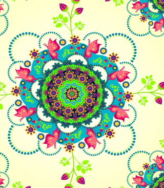 Mandala Flowers Background for HTC Titan