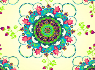 Mandala Flowers Wallpaper for Desktop 1280x720 HDTV