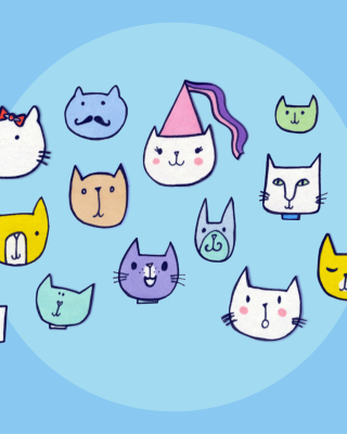 Happy Cats Wallpaper for 360x640
