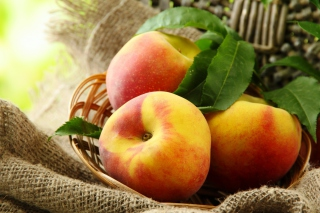 Fresh Peaches Wallpaper for Android, iPhone and iPad