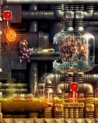 Digital Cyborg Art Background for iPhone 6 Plus
