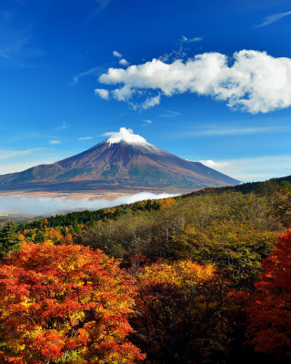 Mount Fuji 3776 Meters sfondi gratuiti per iPhone 4S