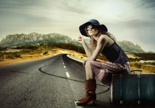 Road Trip Background for Android, iPhone and iPad