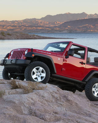 Kostenloses Jeep Wrangler Rubicon Hard Rock Wallpaper für iPhone 3G