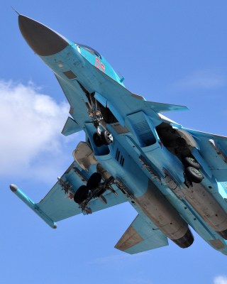 Sukhoi Su 34 Strike Fighter Wallpaper for Nokia C2-03