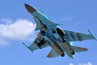 Sukhoi Su 34 Strike Fighter Background for Desktop 1280x720 HDTV