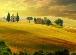 Tuscany - Discover Italy Background for Samsung Galaxy S 4G