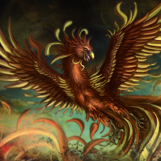 Mythology Phoenix Bird sfondi gratuiti per iPad mini