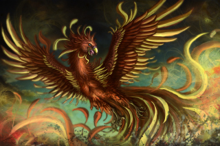 Mythology Phoenix Bird Background for Android, iPhone and iPad