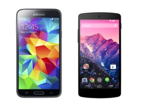 Free Samsung Galaxy S5 and LG Nexus Picture for Samsung Galaxy S4