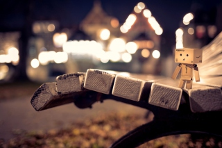 Danbo On Bench Background for Android, iPhone and iPad