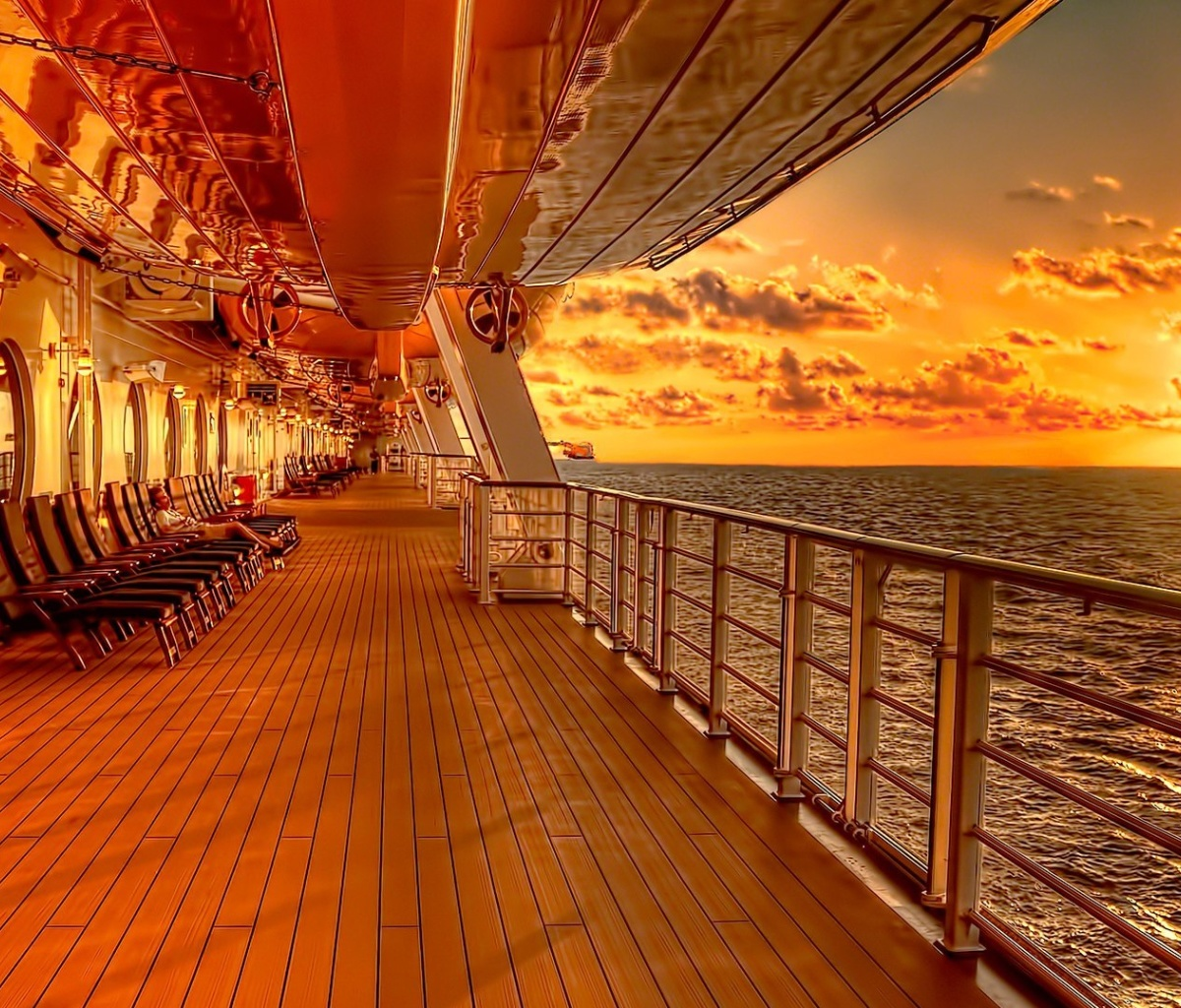 Screenshot №1 pro téma Sunset on posh cruise ship 1200x1024