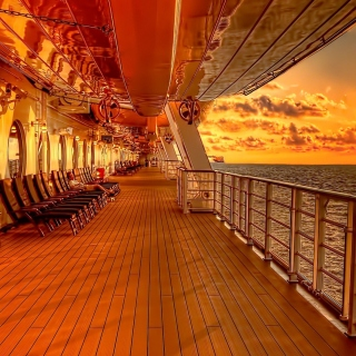 Sunset on posh cruise ship Picture for LG KP105