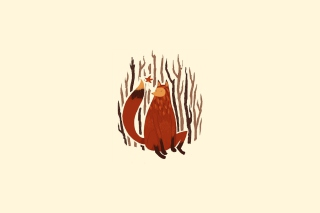 Free Fox Illustration Picture for Android, iPhone and iPad