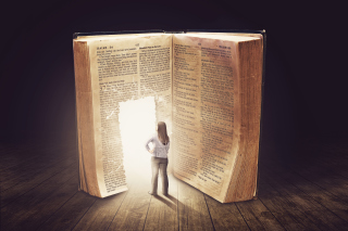 Bible Is A Door To Lightness Wallpaper for Widescreen Desktop PC 1920x1080 Full HD