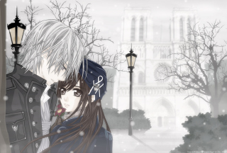 Cute Anime Couple Wallpaper for Android, iPhone and iPad