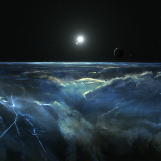 Free Saturn Storm Clouds Picture for iPad mini