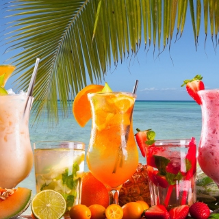 Free Summer Tropics Cocktail Picture for LG KP105