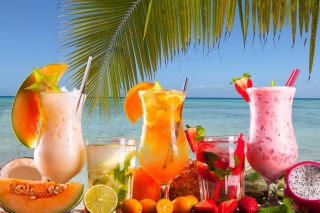 Summer Tropics Cocktail sfondi gratuiti per HTC Raider 4G