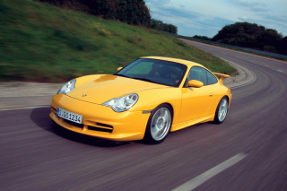 Yellow Porsche Background for Android, iPhone and iPad