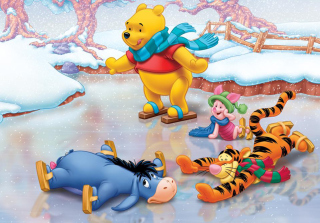 Free Christmas Pooh Picture for Android, iPhone and iPad