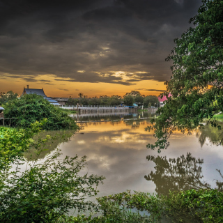 Asian River Landscape sfondi gratuiti per iPad 3