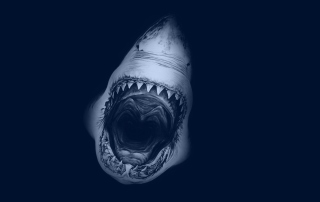 Huge Toothy Shark Background for Android, iPhone and iPad