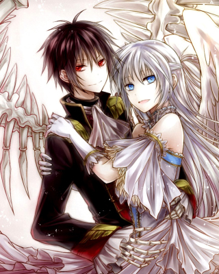 Anime Angel And Demon Love sfondi gratuiti per iPhone 6 Plus