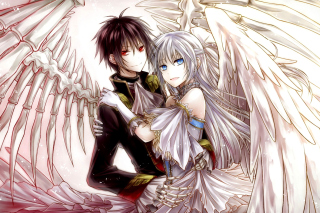 Kostenloses Anime Angel And Demon Love Wallpaper für Samsung Galaxy Grand 2