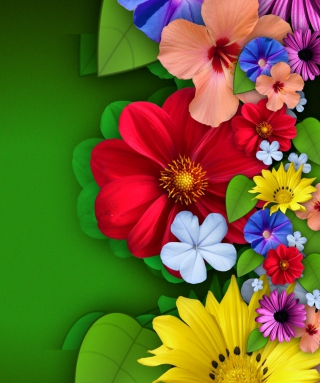 Flowers Background for HTC Titan