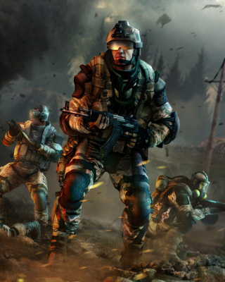 Warface Game Background for Nokia Asha 310