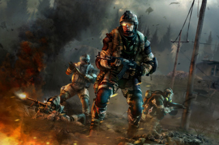 Warface Game sfondi gratuiti per Nokia Asha 205