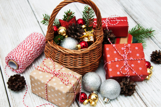 Christmas 2020 Gifts Background for Widescreen Desktop PC 1600x900