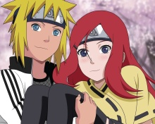Screenshot №1 pro téma Minato Namikaze And Kushina Uzumaki 220x176