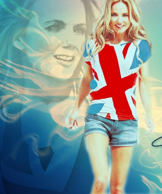Geri Halliwell Background for Nokia C6