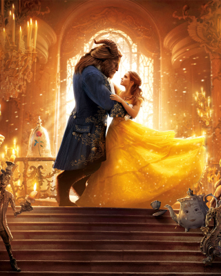 Beauty and the Beast HD Background for iPhone 6 Plus