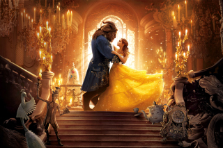Beauty and the Beast HD Background for 1024x600
