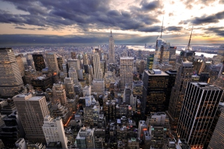 Evening New York City Background for Android, iPhone and iPad