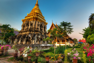 Thailand Temple Wallpaper for 480x400